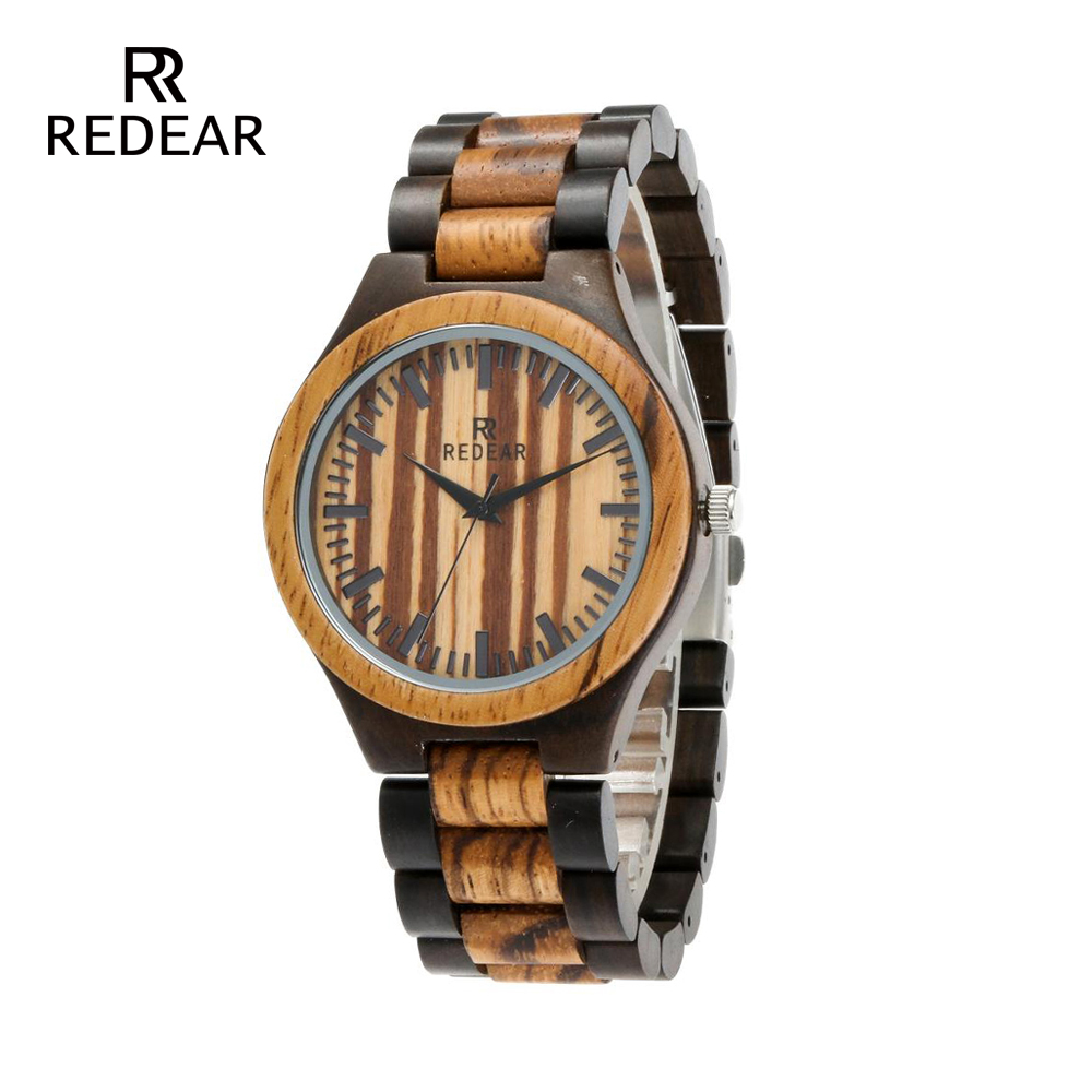 REDEAR Zebra Wood และ Black Sandalwood Wood Watch - นาฬิกาสตรี