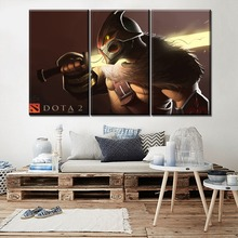 цена на Wall Modular Style Artwork 3 Piece DotA 2 Juggernaut Poster Modern Living Room Or Bedroom Decor Canvas Print Type Game Painting