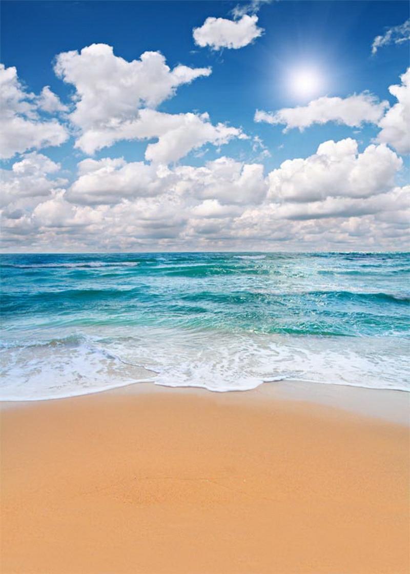 Scenery Vinyl Cloth Sky Blue Sea Beach Photography