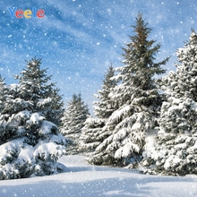 все цены на Yeele Christmas Photocall Decors Pine Forest Snow Photography Backdrops Personalized Photographic Backgrounds For Photo Studio онлайн