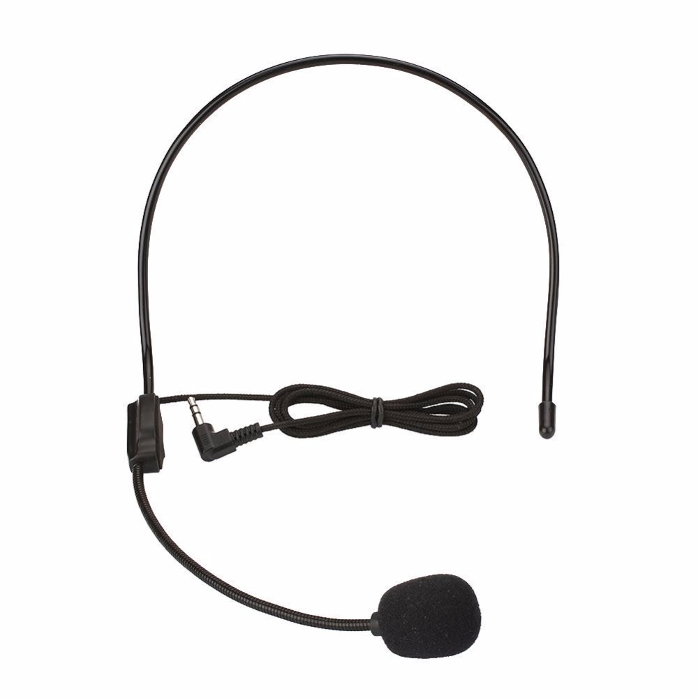 3.5mm Vocal Wired Headset Headworn Microphone Microfono