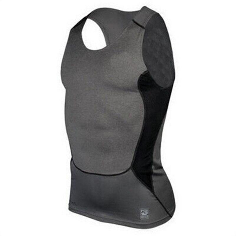 2019 Running Men Sleeveless Sport Vest Man Compression Sport Tight Shirt Layer Boy Gym Exercise Slim Vest Tops S-XXL