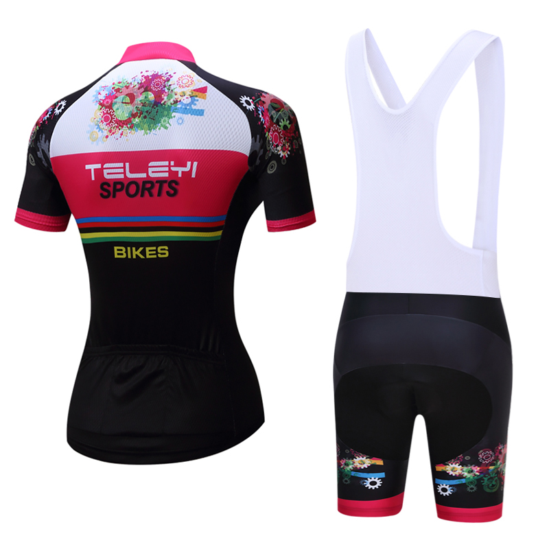 teleyi Summer Women MTB Bike Cycling Clothing Breathable Mountian Bicycle Clothes Ropa Ciclismo Quick-Dry Cycling Jersey Sets