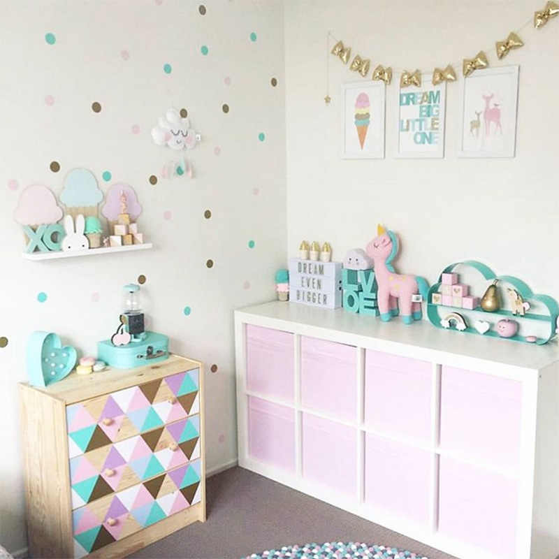 Polka Dots Wall Stickers For Kids Room Baby Nursery Sticker Children Decals Easy