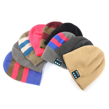 Smart Wireless Bluetooth Cap Headphone Headset Speaker Magic Hat Mic Soft Warm Beanie Hats