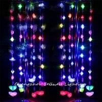 חג מולד עץ חג מולד קישוטי נהדר! led חג הנורה חתונה מוצר חרוז וילון 240 Pcs צבעוני Led סוללה מנורת H066