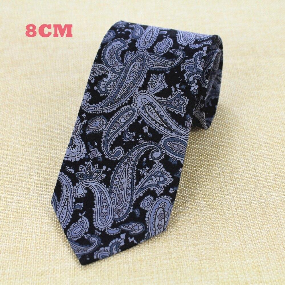 RBOCOTT New Design 8 cm Baumwolle Krawatten Für Männer Paisley - Bekleidungszubehör - Foto 6