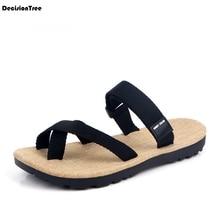 Fashion Men Solid Flip Flops Summer Outdoor Male Beach Sandals Soft Non-slip Flat Shoes Lightweight Comfortable Slippers Z187 недорго, оригинальная цена