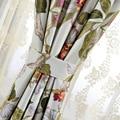Китайские классические шторы с цветочным принтом  Тканые шторы из полиэстера и хлопка для спальни и свадьбы  деревенские пасторальные штор...