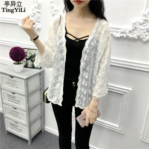 Aliexpress.com : Buy TingYiLi Embroidery White Crochet Summer ...