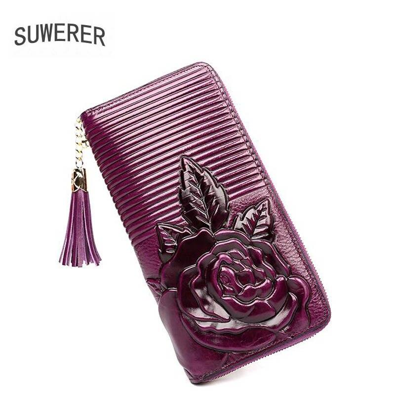 2018 New Genuine Leather bags Three-dimensional embossing luxury fashion tassel women bags designer womens leather wallets genuine leather 3d embossing dragon