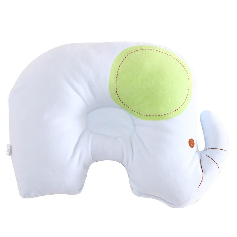 Newborn Pillows Cartoon Elephant Soft Cotton Infant Baby Shaping Pillow Striped Unsex Girl Bebe Boy Pillows 0-12Month