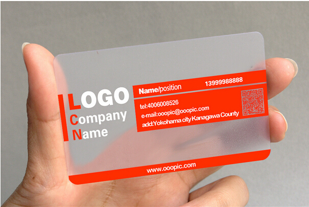 Customized Pvc Business Card Visit Card Printing Custom Transparent