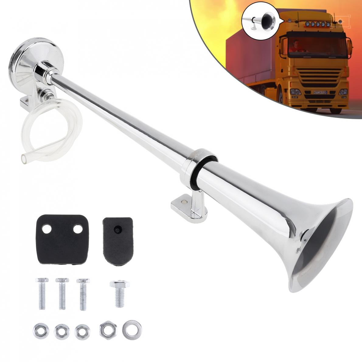 Durable 17 Inch 12V / 24V 150dB Super Loud Single Trumpet Air Operated Horn for Truck / Boat / Train / Lorry