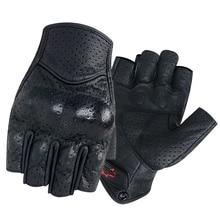 Gants de Moto en cuir sans doigts, pour hommes et femmes, pour Scooter, pour vélo électrique, course et cyclisme, été