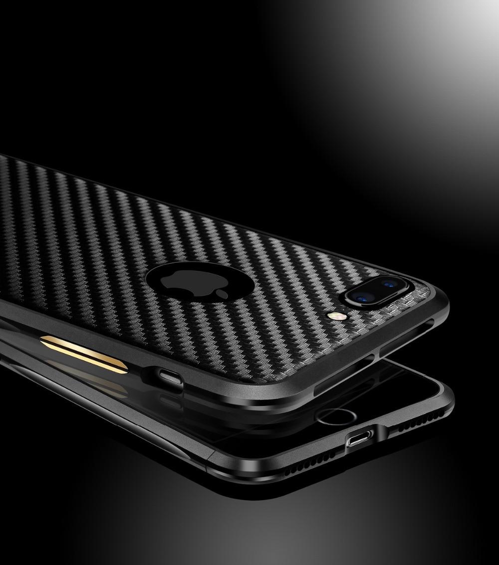 Luksuzni metalni kofer za branik za iPhone 7/7 Plus Fundas vitki - Oprema i rezervni dijelovi za mobitele