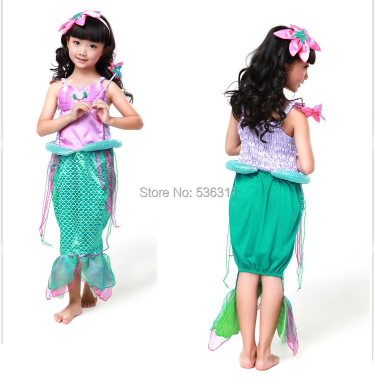 child The little Mermaid kids Princess Ariel dress girls birthday party dress Ariel princess cosplay costume for girls-in Girls Costumes from Novelty ...  sc 1 st  AliExpress.com & child The little Mermaid kids Princess Ariel dress girls birthday ...