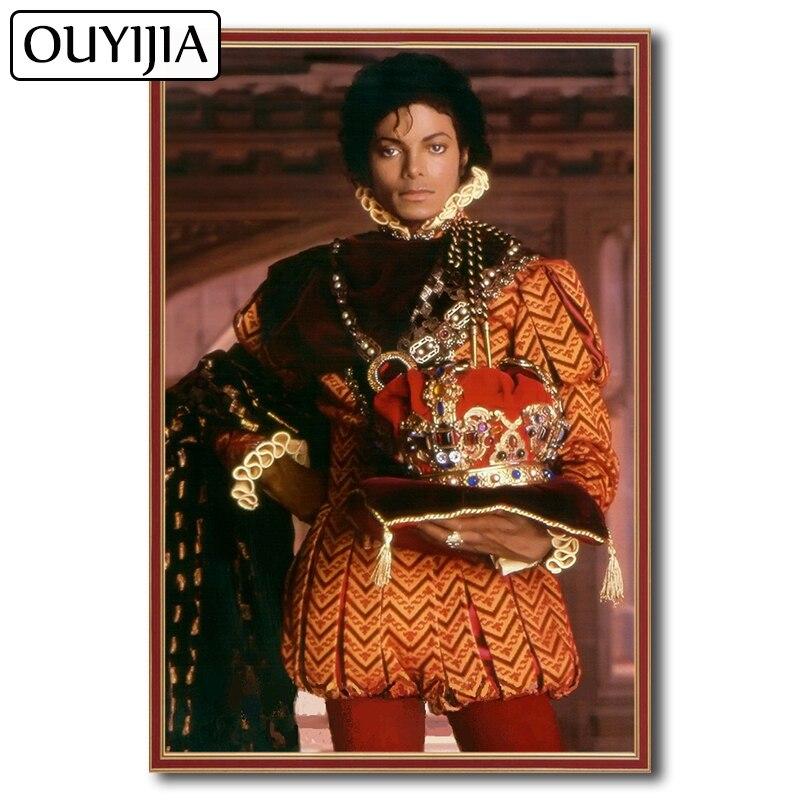 OUYIJIA 5D DIY MJ Michael Jackson Diamond Painting Full Square Picture Of Rhinestone  Diamond Mosaic Cross Stitch Embroidery Star 0c3ce637f7f5