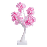 Rose tree USB table lamp Valentine's Day gift girl night light home dormitory bedroom decoration desk bedside lamp mx4091755