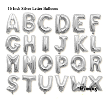 16 inch letter shaped balloons event festive party supplies wedding birthday decoration foil silver alphabet