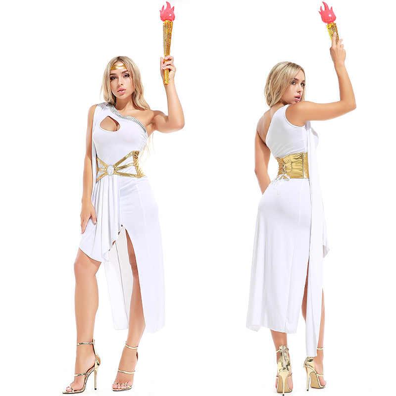 a9ab36bec ... Sexy Roman Greek Goddess Costume White Black Grecian Beauty Costume  Arabian Princess Fancy Dress Halloween