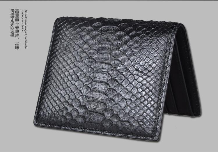 100% genuine python skin leather wallets and purse snake leather skin bank card holder case black color free shipping yuanyu 2017 new hot free shipping real python skin snake skin color women handbag elegant color serpentine fashion leather bag