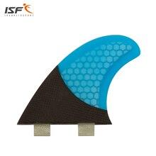 Nowy styl honeycomb deska surfingowa płetwy Płetwy Quad Zestaw (4) FCS Kompatybilny Z Włókna Szklanego i Węgla Blue Wybierz Kolor SQ Surf Fin