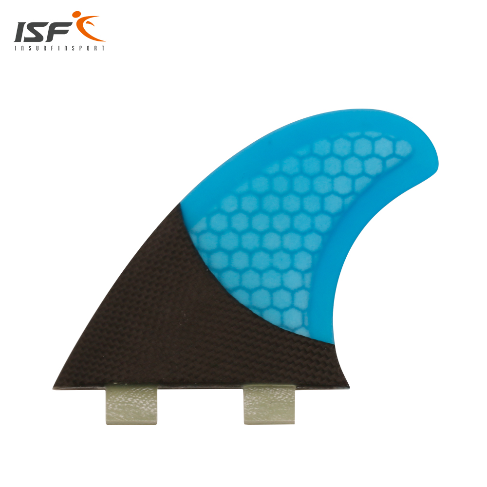 New style honeycomb surfboard Fins Quad fin Set (4) FCS Compatible Fiberglass & Carbon Blue Select Color SQ Surf Fin hot sale future fin honeycomb surf quad fins in surfing surfboard quilhas free shipping