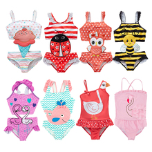 Одежда для купания для маленьких девочек; купальный костюм с рисунком арбуза; пляжный купальник; бикини; Милый Летний цельный купальный костюм
