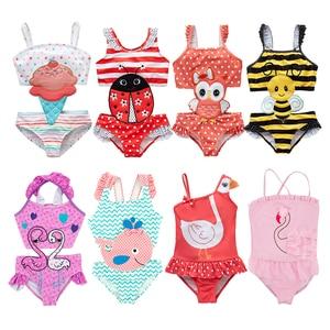 Toddler Infant Baby Girls Swimwear Watermelon Swimsuit Swimming Beach Bathing Bikini Cute Summer One-piece Swimming Baby Overall(China)