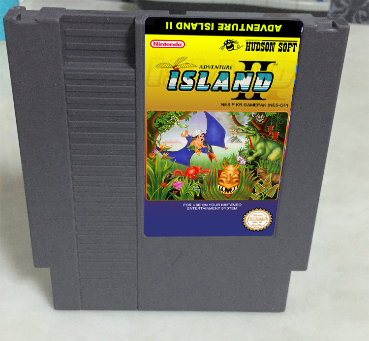 New arrival 72 pins 8 bit game cartridge free shipping — Hudson's Adventure Island II