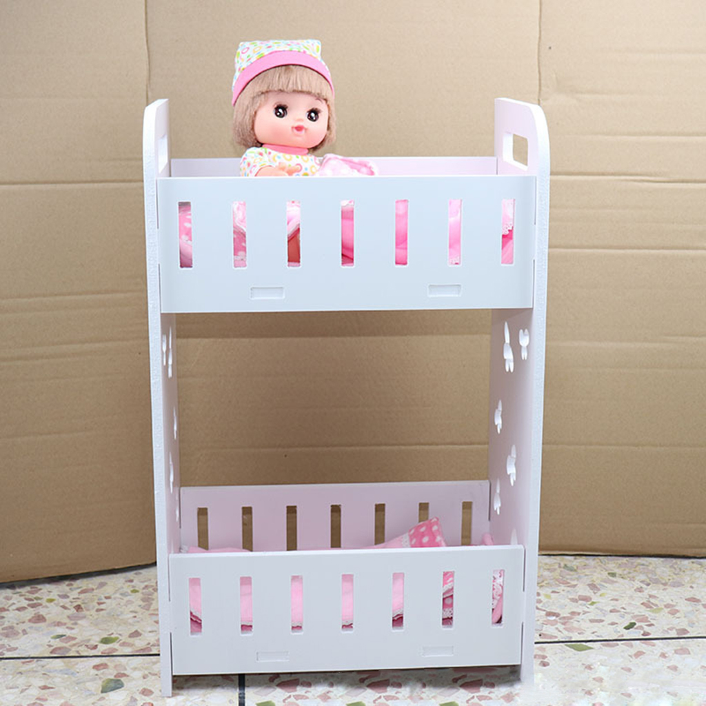 Assembly Dolls House Miniature Bunk Bed Double Decker Baby Doll Bunk Bed Set For Mel Chan Baby Doll Furniture Toys Decoration Dolls Accessories Aliexpress