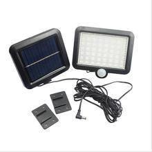 цена на 56 LED Solar Light Waterproof PIR Motion Sensor Wall Lamp Outdoor Garden Parks Security Emergency Street Solar Garden Light