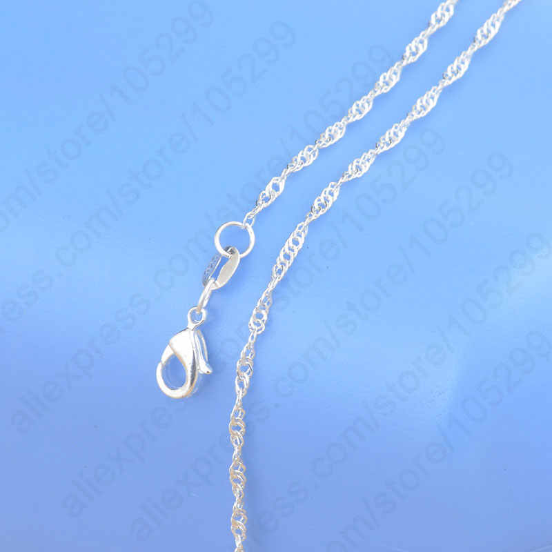 """Big Sale Sample Order 20Pcs Mix 20 Styles 18"""" Genuine 925 Sterling Silver Link Necklace Set Chains+Lobster Clasps"""