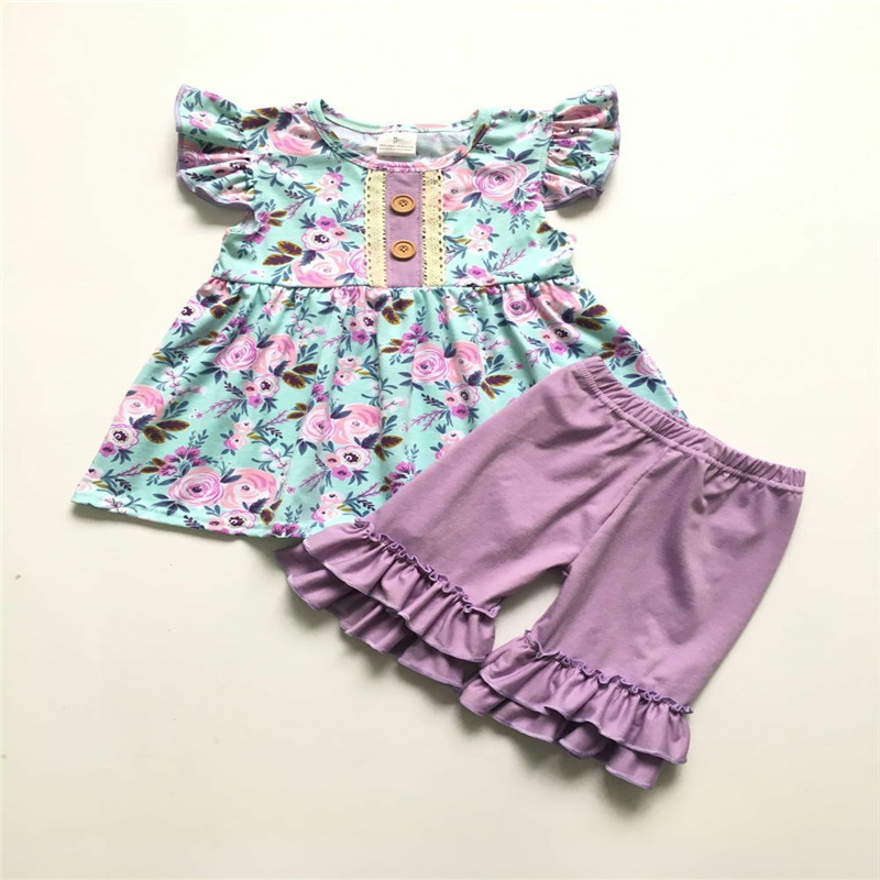 3ee017583341e 2019 Europe and the United States popular summer new baby girl clothes  cotton short-sleeved