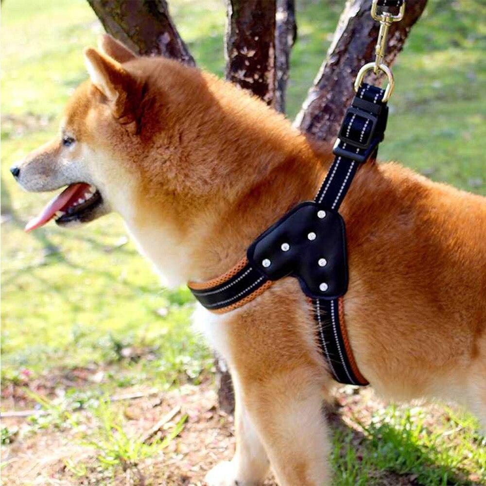 S/M/L Nylon Heavy Duty Dog Pet Harness Collar Padded Extra Big Large Medium Small Dog Harnesses vest Husky Dogs Supplies