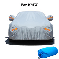 Waterproof car cover for BMW series outdoor sun protection cover for car reflector dust rain snow protective