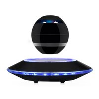 Magnetic Floating Bluetooth LED Night Light Suspension Ball Stereo Sound Speaker Light Flying Saucer Base Rotary