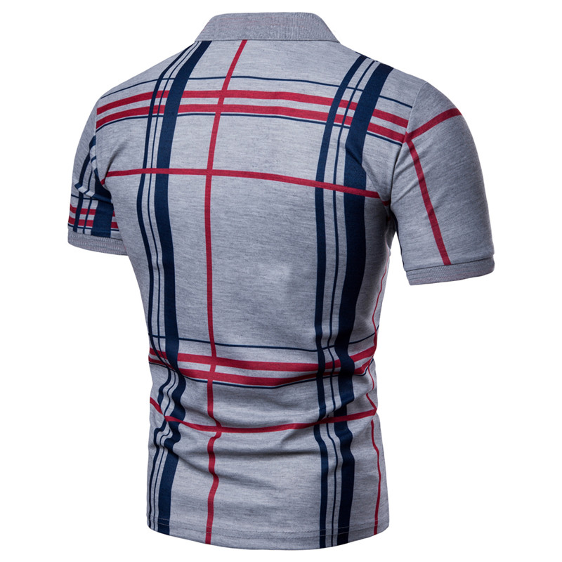 Men Plaid Polo Shirt 2019 Summer Luxury Breathable Classic Casual Tops Short Sleeves Tee Shirt Brands Jerseys Camisa Masculina in Polo from Men 39 s Clothing