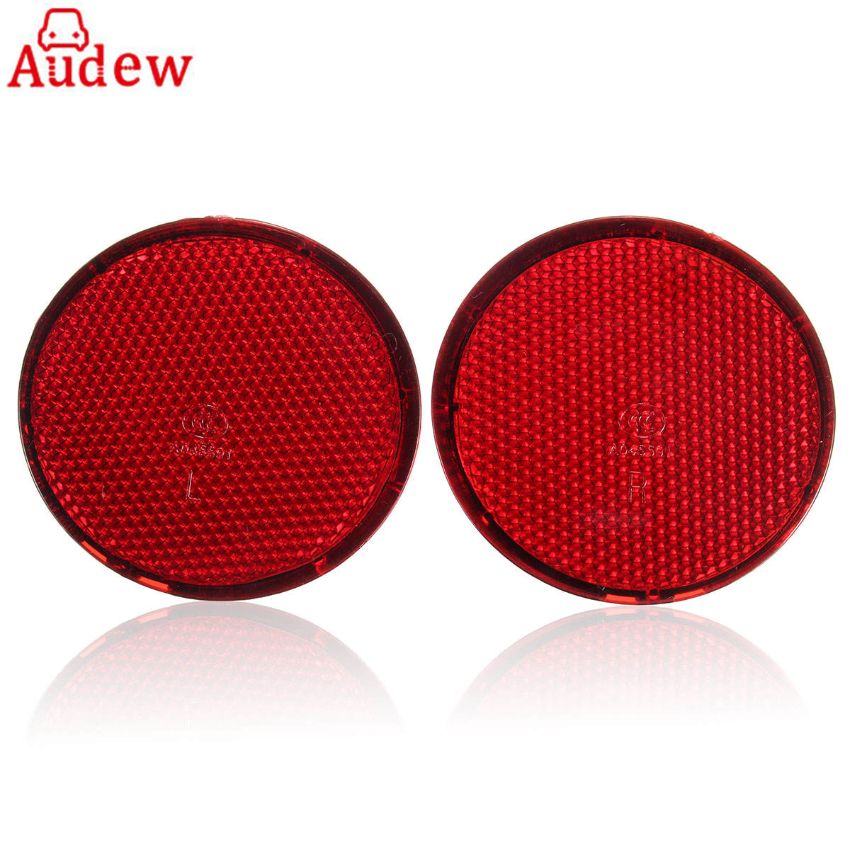 2Pcs Red Left & Right Rear Bumper Round Reflectors Light Reflective Strips For Nissan /QASHQAI 2007-2015 Exterior Accessories 2pcs left