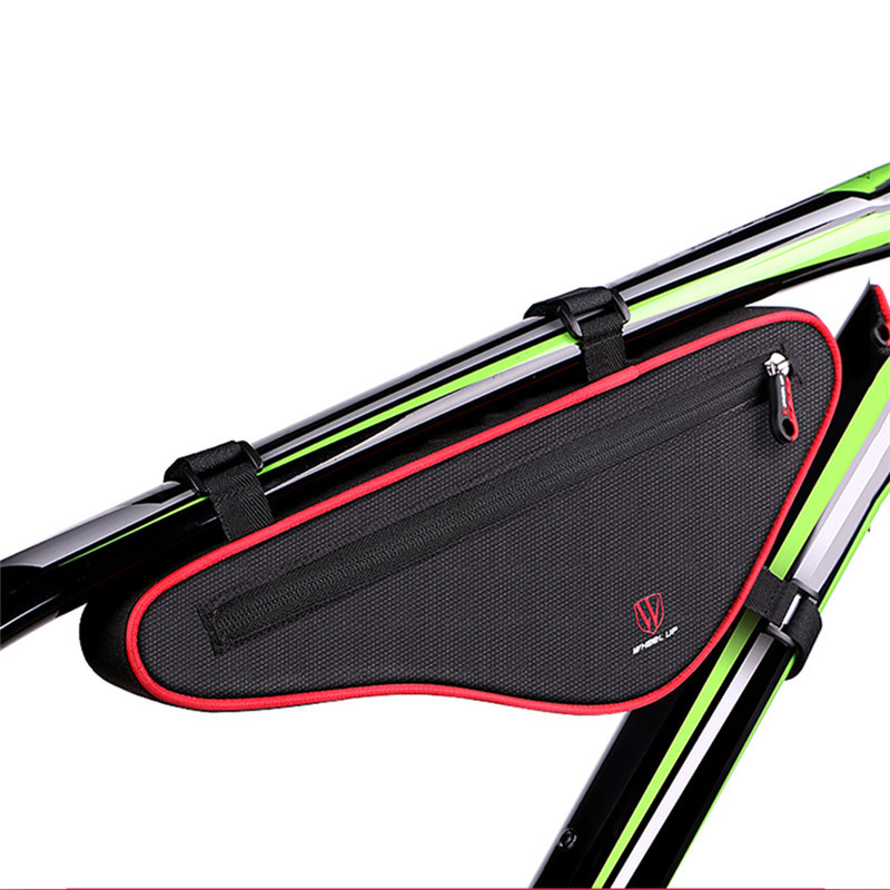 WHEEL UP Large Capacity Nylon Reflective MTB Road Bike Front Bag Bike Panniers Triangle Cycling Bicycle Bags Accessories rockbros bike triangle bag waterproof large capacity bicycle bags panniers frame front mtb road pannier cycling accessories