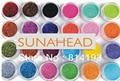 24 Color Metal Shiny Glitter Nail Art Tool Kit Acrylic UV Powder Dust gem Decoration