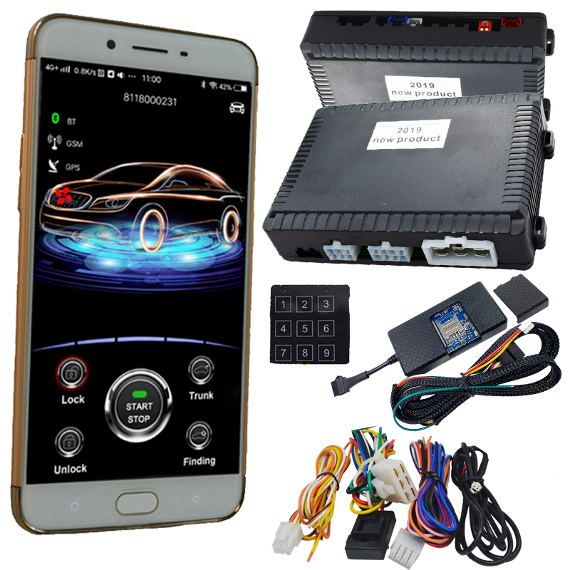cargo new gps car alarm system working with original car keyless go start stop and gps