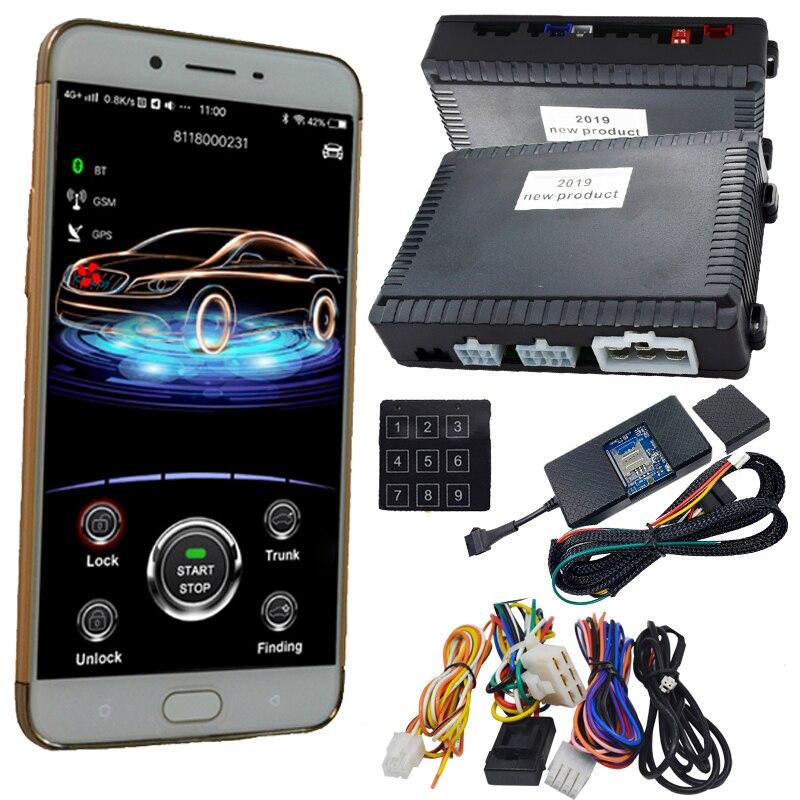 Cardot New 2g  App Start Stop Gps Car Alarm System Working With Original Car Keyless Go Start Stop