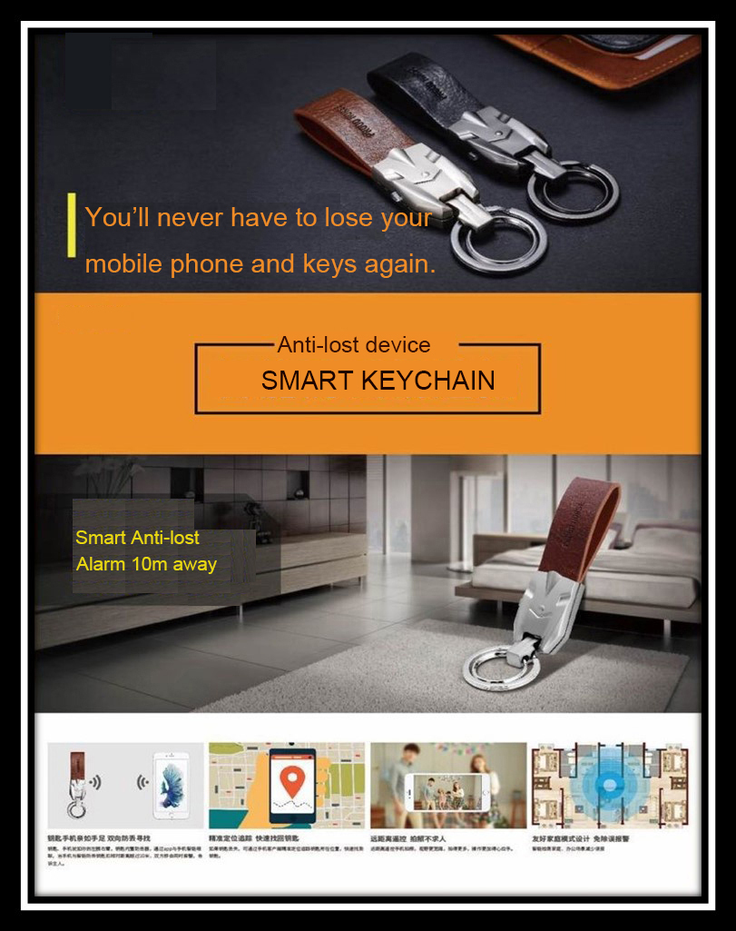 Popular smart anti-lost keychain four colors for belongings kinds old people val