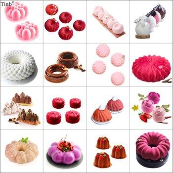 Kunst Blume Runde 3D Silikon Formen Kuchen Dekorieren Werkzeuge Backen  Werkzeug Für Kuchen Schokolade Mousse Silikon Form Dessert Backen Pan