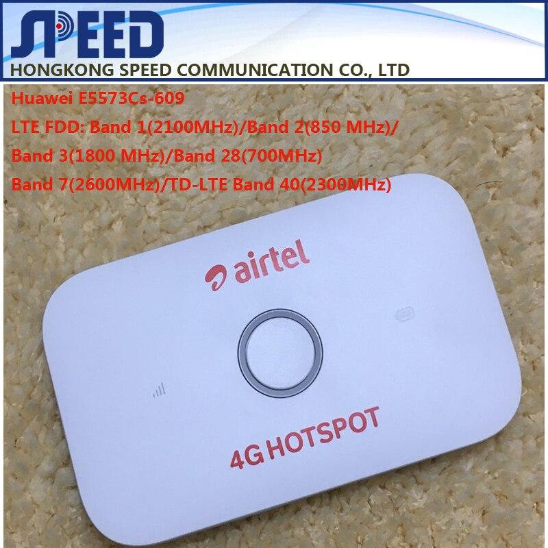 Débloqué Huawei E5573 E5573Cs-609 LTE FDD 150Mbps 4G poche WiFi routeur Modem Dongle