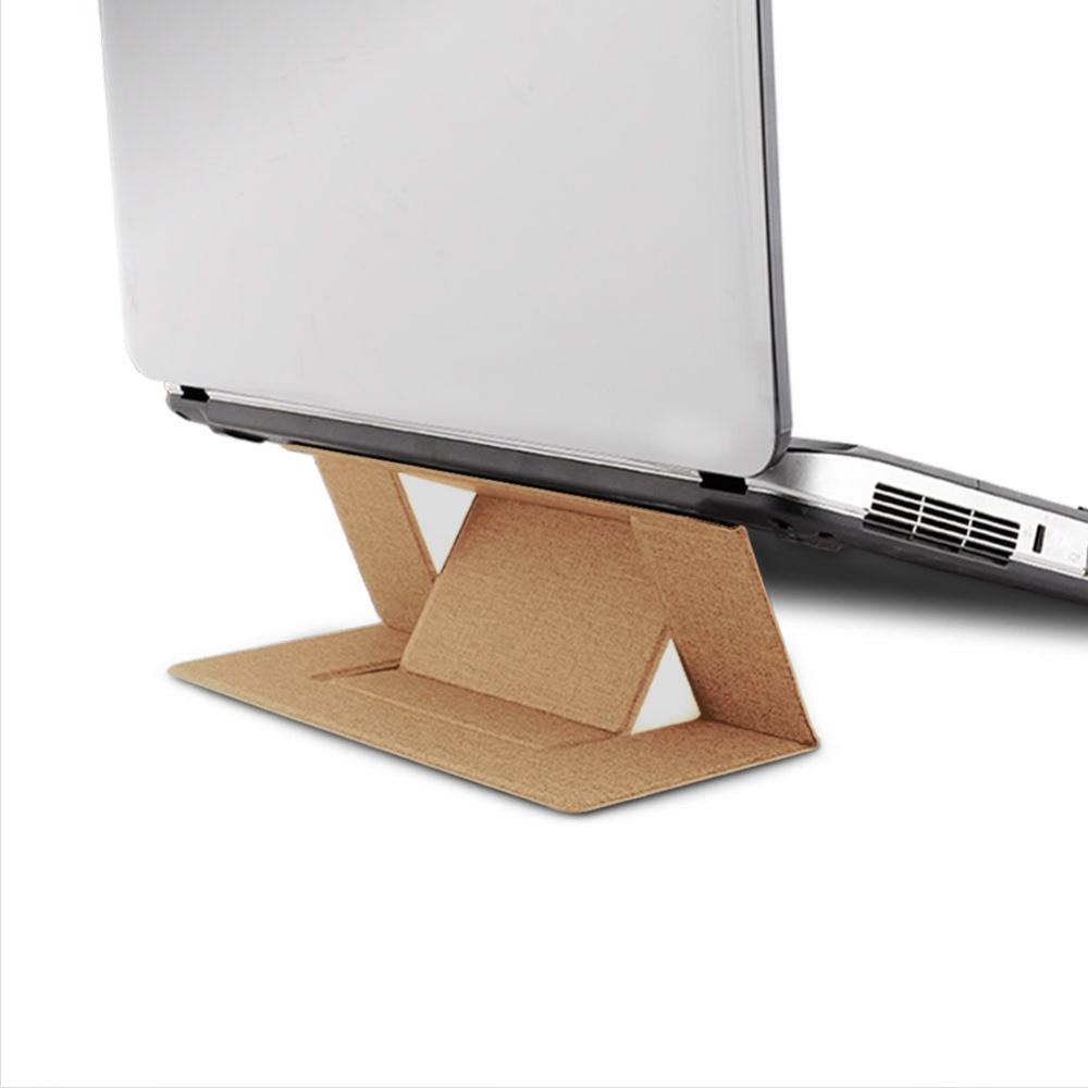 1 Pc Unsichtbare Laptop Klebstoff Stehen Folding Einstellbare Halterung Tragbaren Tablet-halter Für Ipad Macbook Lenovo Samsung Laptops