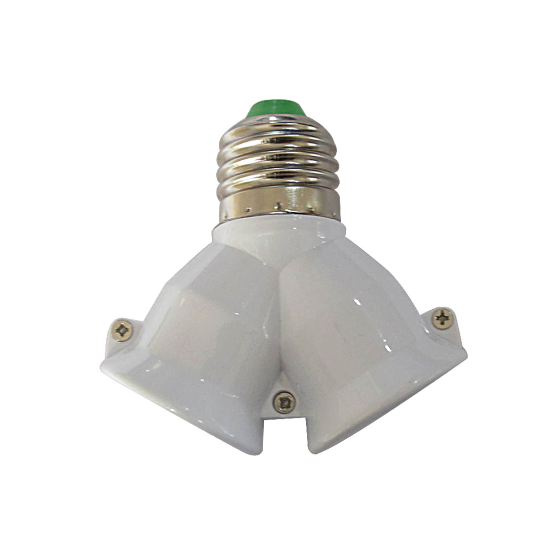 Light Lamp Bulb Holder Copper Contact Adapter Converter E27 To Double E27 Socket Base Extender Splitter Plug