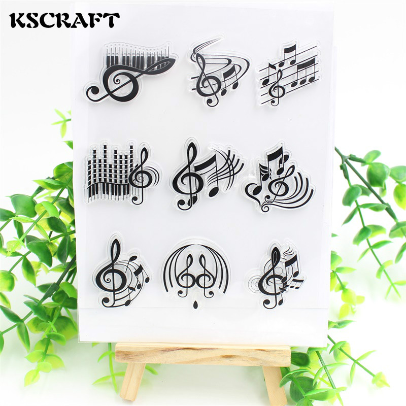 KSCRAFT The Music Transparent Clear Silicone Stamp/Seal for DIY scrapbooking/photo album Decorative clear stamp sheets